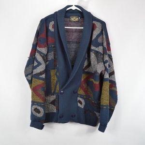 Vintage 90s Mens XL Double Button Cardigan Sweater